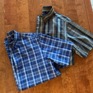 LIKE NEW! Two Men's Roundtree & Yorke Shirts-MED